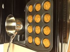 Baked Salmon Patties in a muffin pan...no grease, less fat!!!