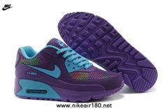 purchase cheap 3b128 ee893 New Purple Blue Nike Air Max 90 Womens Shoes HYP PRM KPU Shoes Nike Air Max