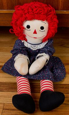 1980's Raggedy Anne Doll by AliciaVintageShop on Etsy