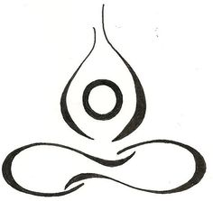 Yoga Lotus Drawing Original Tattoo by silverwingstattoos on Etsy, $12.00