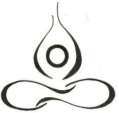 Yoga Lotus Drawing Original Tattoo by silverwingstattoos on Etsy, $12.00