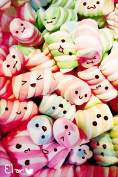 Cute Pastel Wallpaper, Kawaii Wallpaper, Disney Wallpaper, Cute Wallpaper Backgrounds, Wallpaper Iphone Cute, Foto Cartoon, Cute Marshmallows, Beautiful Nature Wallpaper, Dessert Party