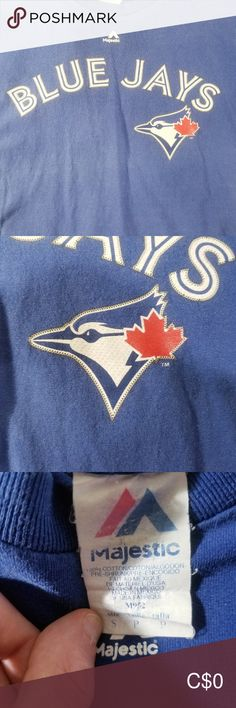 BLUE JAYS T-SHIRT This is a small Blue Jays t-shirt set features the team name and logo on the front and the last name Dawson and the number 20 on the back Shirts Tees - Short Sleeve Tee Shirts, Tees, Team Names, Plus Fashion, Fashion Tips, Fashion Trends, Jay, Blue And White, Man Shop