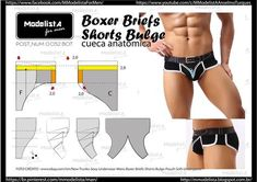 Perfecting Sew A T-shirt for Men Ideas. Immaculate Sew A T-shirt for Men Ideas. Mens Sewing Patterns, Sewing Men, Clothing Patterns, Men's Boxer Briefs, Men's Briefs, Diy Barbie Clothes, Sewing Clothes, Underwear Pattern, Modelista
