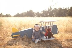 Airplane Themed First Birthday Photos
