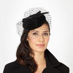 Top Hat by Stephen Jones Designer black velvet fascinator- at Debenhams.com