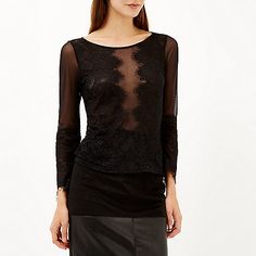 Black lace top - £25.00 #riverisland