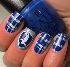 Ravenclaw nail art from Harry Potter