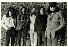 """The Big Five, 1967. From left to right: Alton Kelley, Victor Moscoso, Rick Griffin, Wes Wilson, Stanley Mouse. Photo by Bob Seidemann.... le futur """"Studio Mouse"""""""