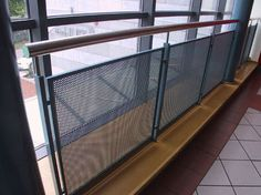 industrial interior railing mesh - Google Search