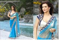 Latest Modern Indian Saree & Blouse Designs Catalogue 2015-16, Indian Velvet Saree Blouse Designs 2015-2016 , Saree Blouse Back Neck Designs 2015-2016