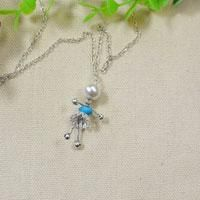 This wire wrapped silver fairy pendant necklace is so cute. I'm sure every kids will love it.