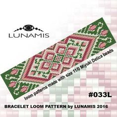 Bracelet pattern loom pattern square door LunamisBeadsPatterns