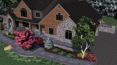 A rustic 3D Virtual Property landscape design #3Dlandscapedesign