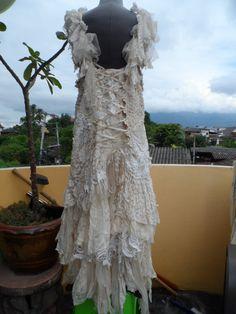 20%OFF wedding dress bohemian lagenlook gyspy vintage by wildskin