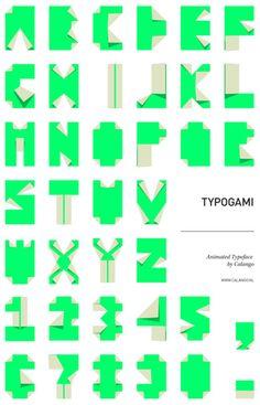 Typogami by Calango