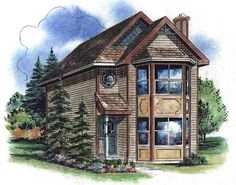 House Plan 58522 | Plan with 1122 Sq. Ft., 3 Bedrooms, 2 Bathrooms