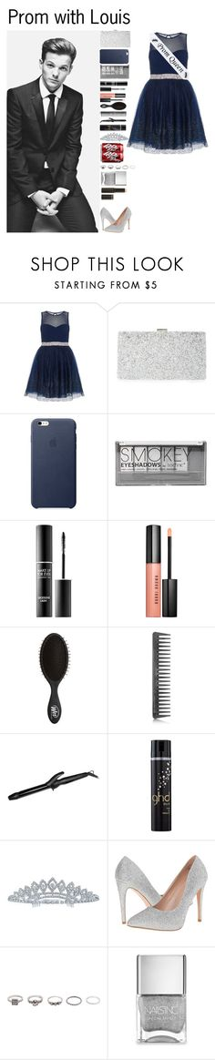 """Prom with Louis"" by kateremington-1 ❤ liked on Polyvore featuring Dorothy Perkins, Sondra Roberts, Boohoo, MAKE UP FOR EVER, Bobbi Brown Cosmetics, GHD, Bio Ionic, Bling Jewelry, Lauren Lorraine and BKE"