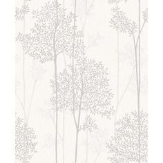 Eternal Wallpaper in White Mica from the Innocence Collection by Graham & Brown