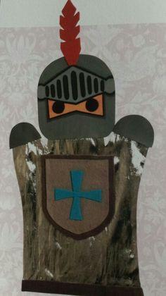 3d knutsel: ridder handpop gemaakt van handomtrek