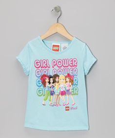 Take a look at this Aqua 'Girl Power' LEGO Friends Tee - Girls by LEGO on #zulily today!