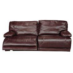 C88EX5959TSBROWNSO 89  Dark Brown Dual Reclining Leather Sofa