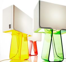 Tube Top lamps by Pablo Designs lighting
