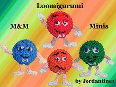 New Loomigurumi / Amigurumi M&M Mini - Rubber Band Crochet - Hook Only -...