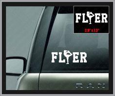Flyer with Scorpion Decal Cheerleading Laptop Cheer Window Vinyl Car Sticker on Etsy, $5.49