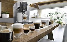 Shop De'Longhi premium coffee machines, enjoy the ultimate coffee experience in your home, explore the fully automatic coffee machine range, new Maestosa Latte Macchiato, Machine À Café Delonghi, Espresso Maker, Coffee Maker, Coffee Shop, Machine Expresso, Automatic Espresso Machine, Maker Shop, New Kitchen Designs