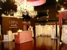 photo 15 of Winnie Couture Flagship Bridal Salon Beverly Hills  White pops with a dark background