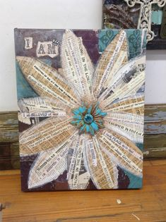 Class project. Decoupage art. Could use names, dreams, prayers, ...