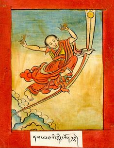 Namkha'i Nyingpo. Translator, one of the eight great students, Sent to India with 107 others by the Tibetan king to study with Indian pandits in preparation for massive translation project. Upon returning to Tibet, he was ordained by Shantarakshita. Again sent to India with four young monks to connect with Mahasiddhas. Humkara initiated them into the Heruka sadhanas; Namkha'i learned to fly and heal. Returning to Tibet, he heals the king and they become lifelong friends.