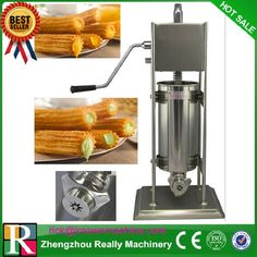 manual type churro maker / stainless steel 3L churro making machine with three moulds and nozzles with 700ml churro filler
