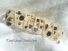 Gypsy Gems Micro Macrame Bracelet by DeadSerious2010 on Etsy, $58.00