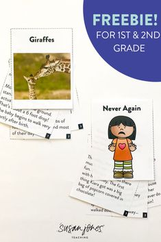 I chose to include a questioning reference chart with some example question stems as well as a recording sheet for students to use when reading. I also included 6 different short stories where students can practice their questioning skills. Grab these fiction and nonfiction stories for FREE!   #freebie #firstgradereading