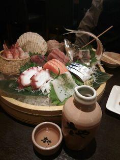 庄や@秋葉原。韓国の友達にポンゲ落とされて。日本酒は八海山。