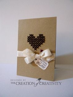 The Creation of Creativity: My first published card: Sending You Love Cross Stitch Heart, Cross Stitch Cards, Cross Stitching, Cross Stitch Embroidery, Love Valentines, Valentine Crafts, Valentine Heart, Heart Cards, Diy Cards