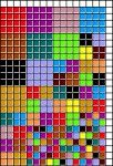scrappy squares needlepoint quilt free design chart, designed by needlepoint expert janet m. perry
