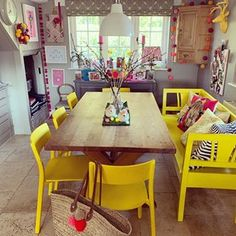 Image may contain: people sitting, table and indoor Dining Chairs, Dining Table, People Sitting, White Patterns, Ikea, Indoor, House Ideas, Furniture, Interior