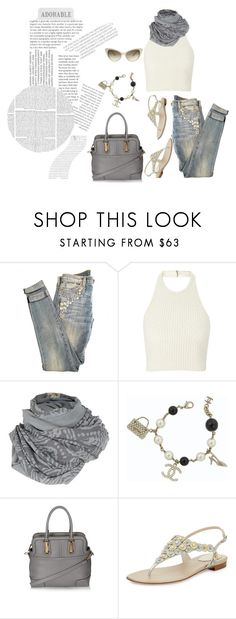 """""""adorable..."""" by confusgrk ❤ liked on Polyvore featuring Current/Elliott, Tom Ford, A Postcard From Brighton, Chanel, Topshop, Balenciaga and René Caovilla"""