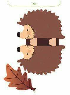 Make hedgehogs in autumn. Simple craft ideas with children in autumn - Fall Crafts For Kids Autumn Activities, Craft Activities For Kids, Preschool Crafts, Craft Ideas, Cheap Fall Crafts For Kids, Easy Fall Crafts, Little Girl Crafts, Papercraft Anime, Hedgehog Craft