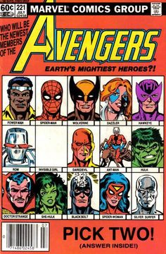 Two of these stars will be the secret square, and the prize is Avengers membership! Letters include one from Barry Dutter (he will be disappointed, but when this fan turns pro, he'll get over it).