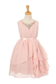 3a7ff35cb3e6 Looking for a blush pink chiffon flower girl dress for your wedding with FREE  SHIPPING? Childrens Dress Shop