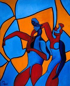 """""""Friends"""" By Cubist artist: Cliff Richey  http://www.1-cliff-richey.artistwebsites.com"""
