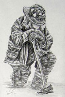 coloring for adults- kleuren voor volwassenen Firefighter Drawing, Firefighter Humor, Firefighter Pictures, Volunteer Firefighter, Firefighter Clipart, Fireman Tattoo, Firefighter Tattoos, Fireman Quilt, Tatoo Art