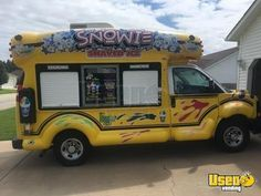 Turnkey 2015 Chevy Express 2500 Van Snowie Bus Shaved Ice Truck/Snowball Stand for Sale in Arkansas! Ice Car, Ice Truck, Food Truck For Sale, Trucks For Sale, Ford Motorhome, Street Food Business, Motorhome Conversions, Chevy Express, Step Van