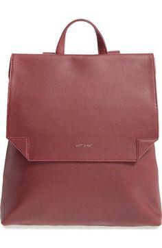 57f7bcbf02ba  Volta Slim  Vegan Leather Backpack Backpack Straps