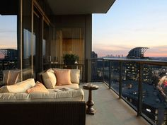 Love the look of and view from the balcony of this Atlanta condo