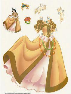 Miss Missy Paper Dolls: Foreign Disney Princess Paper dolls - Snow White Vestidos Princesas Disney, Ariel Mermaid Doll, Paper Toys, Paper Crafts, Imprimibles Toy Story Gratis, Disney Princess Set, Disney Paper Dolls, Paper Dolls Printable, Label Paper